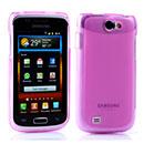 Coque Samsung i8150 Galaxy W Silicone Transparent Housse - Rose