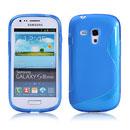 Coque Samsung i8190 Galaxy S3 Mini S-Line Silicone Gel Housse - Bleu
