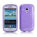 Coque Samsung i8190 Galaxy S3 Mini S-Line Silicone Gel Housse - Pourpre