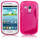 Coque Samsung i8190 Galaxy S3 Mini S-Line Silicone Gel Housse - Rose Chaud