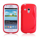 Coque Samsung i8190 Galaxy S3 Mini S-Line Silicone Gel Housse - Rouge