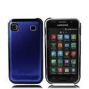 Coque Samsung i9000 Galaxy S Aluminium Metal Plated Etui - Bleu