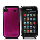 Coque Samsung i9000 Galaxy S Aluminium Metal Plated Etui - Rose
