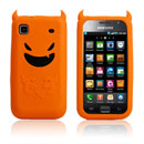 Coque Samsung i9000 Galaxy S Demon Silicone Housse Gel - Orange