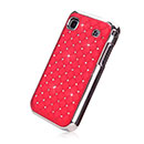 Coque Samsung i9000 Galaxy S Luxe Diamant Bling Etui Rigide - Rouge