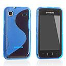 Coque Samsung i9000 Galaxy S S-Line Silicone Gel Housse - Bleu