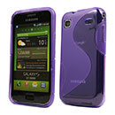 Coque Samsung i9000 Galaxy S S-Line Silicone Gel Housse - Pourpre