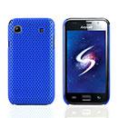 Coque Samsung i9003 Galaxy SL Filet Plastique Etui Rigide - Bleu