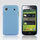 Coque Samsung i9003 Galaxy SL Filet Plastique Etui Rigide - Bleue Ciel