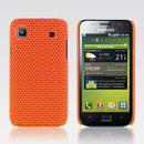 Coque Samsung i9003 Galaxy SL Filet Plastique Etui Rigide - Orange