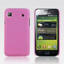 Coque Samsung i9003 Galaxy SL Filet Plastique Etui Rigide - Rose