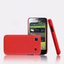 Coque Samsung i9003 Galaxy SL Filet Plastique Etui Rigide - Rouge