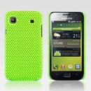 Coque Samsung i9003 Galaxy SL Filet Plastique Etui Rigide - Verte