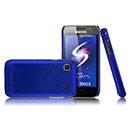 Coque Samsung i9003 Galaxy SL Plastique Etui Rigide - Bleu