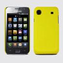 Coque Samsung i9003 Galaxy SL Plastique Etui Rigide - Jaune