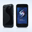 Coque Samsung i9003 Galaxy SL S-Line Silicone Gel Housse - Noire