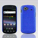 Coque Samsung I9020 Nexus S Filet Plastique Etui Rigide - Bleu