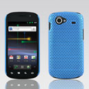 Coque Samsung I9020 Nexus S Filet Plastique Etui Rigide - Bleue Ciel