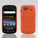 Coque Samsung I9020 Nexus S Filet Plastique Etui Rigide - Orange