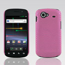 Coque Samsung I9020 Nexus S Filet Plastique Etui Rigide - Rose
