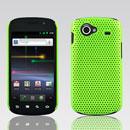 Coque Samsung I9020 Nexus S Filet Plastique Etui Rigide - Verte