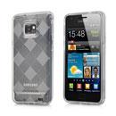 Coque Samsung i9100 Galaxy S2 Grid Gel Silicone Housse - Clear