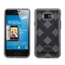 Coque Samsung i9100 Galaxy S2 Grid Gel Silicone Housse - Gris