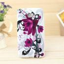Coque Samsung i9103 Galaxy R Fleurs Silicone Housse Gel - Pourpre