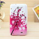 Coque Samsung i9103 Galaxy R Fleurs Silicone Housse Gel - Rose