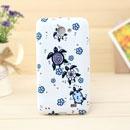 Coque Samsung i9103 Galaxy R Papillon Silicone Housse Gel - Bleu