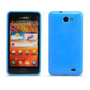 Coque Samsung i9103 Galaxy R Silicone Gel Housse - Bleu