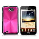 Coque Samsung i9220 Galaxy Note Aluminium Metal Plated Etui Rigide - Rose Chaud