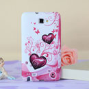 Coque Samsung i9220 Galaxy Note Amour Silicone Housse Gel - Pourpre