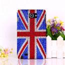 Coque Samsung i9220 Galaxy Note Luxe Diamant Le drapeau du Royaume-Uni Etui - Mixtes