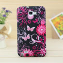 Coque Samsung i9220 Galaxy Note Papillon Silicone Housse Gel - Noire