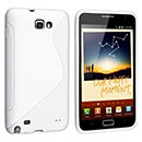 Coque Samsung i9220 Galaxy Note S-Line Silicone Gel Housse - Blanche
