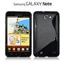 Coque Samsung i9220 Galaxy Note S-Line Silicone Gel Housse - Noire