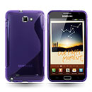 Coque Samsung i9220 Galaxy Note S-Line Silicone Gel Housse - Pourpre