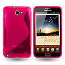 Coque Samsung i9220 Galaxy Note S-Line Silicone Gel Housse - Rose Chaud