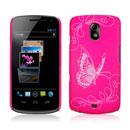 Coque Samsung i9250 Galaxy Nexus Prime Papillon Plastique Etui Rigide - Rose Chaud