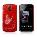 Coque Samsung i9250 Galaxy Nexus Prime Papillon Plastique Etui Rigide - Rouge