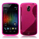 Coque Samsung i9250 Galaxy Nexus Prime S-Line Silicone Gel Housse - Rose Chaud