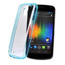 Coque Samsung i9250 Galaxy Nexus Prime Silicone Transparent Housse - Bleu