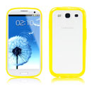 Coque Samsung i9300 Galaxy S3 Silicone Transparent Housse - Jaune