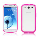 Coque Samsung i9300 Galaxy S3 Silicone Transparent Housse - Rose Chaud