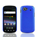 Coque Samsung Nexus S i9023 Filet Plastique Etui Rigide - Bleu