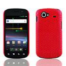 Coque Samsung Nexus S i9023 Filet Plastique Etui Rigide - Rouge