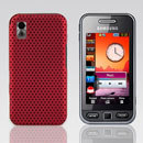 Coque Samsung S5230 tocco lite Filet Plastique Etui Rigide - Rouge