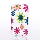 Coque Samsung S5360 Galaxy Y Fleurs Silicone Housse Gel - Blanche