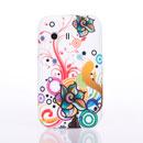 Coque Samsung S5360 Galaxy Y Fleurs Silicone Housse Gel - Mixtes